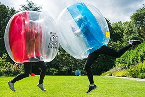 Inflatable, wearable Bubble Ball game.