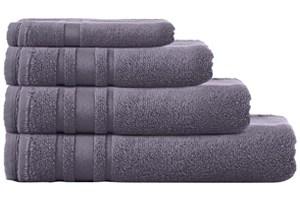 Grey Zero Twist Cotton Towels