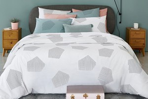 Hexa Cotton Percale Duvet Cover