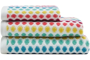 Multi-Coloured Spotted Towels
