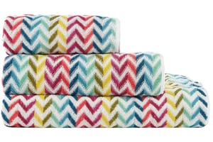 Multi-Coloured Striped Towels