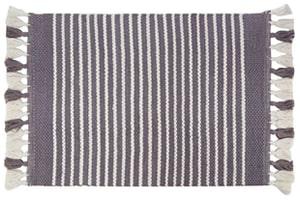 Sophie Grey Striped Bathmat