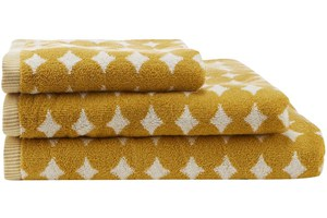 Yellow Retro Spot Towels
